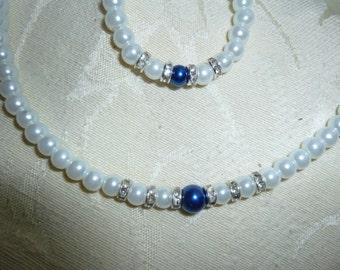 Pearl Flower Girl Jewelry Set, Pearl Flower Girl Necklace, Pearl Flower Girl Bracelet, Pearl Childrens Jewelry, Pearl Girls Jewelry