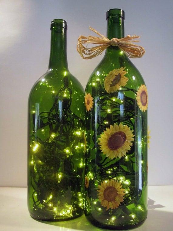 Decorative light up wine bottle light up by for Light up wine bottles