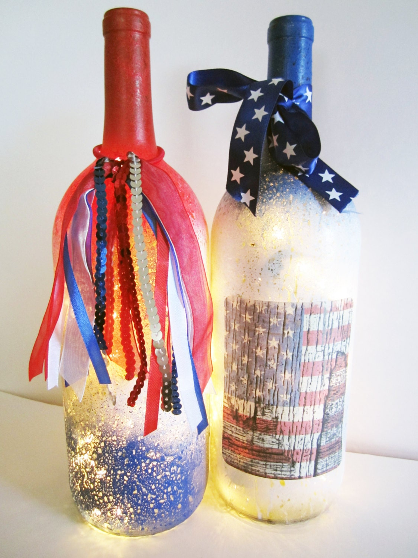 Decorative light up wine bottle light up wine americana for Light up wine bottles