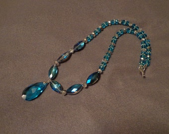 Water-colored drop necklace