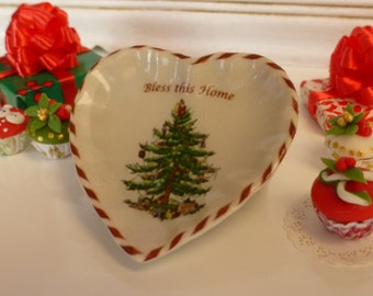 Christmas Tree Heart Plate for Dollhouse