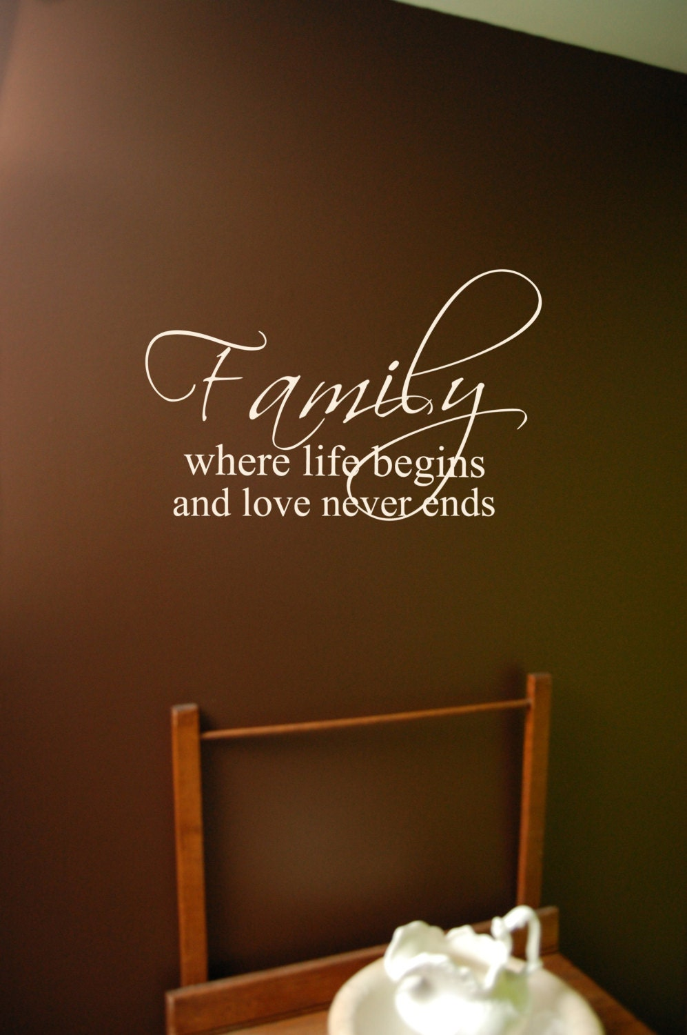family wall decal bible verse decal laundry room decal