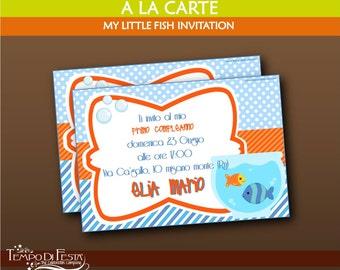 My little fish invitation
