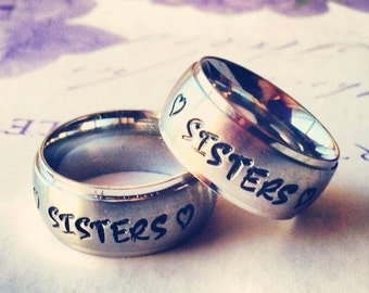 Derby Wife ring, sister ring, Personalized Ring, Engraved Ring,TriBand Domed Personalized/Engraved Ring, Mens Ring, Name Ring, TBDSS01