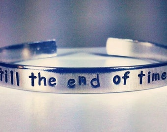 Personalized Bracelet,  Engraved Bracelet, love, valentines, wedding gift, bridal, 1/4""
