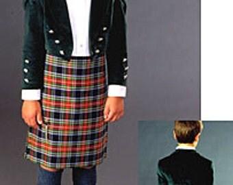 FW154 - Child's Scottish Kilt & Jacket Sewing Pattern by Folkwear