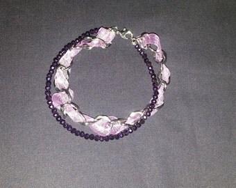 LIlac Purple Crystal Bracelet