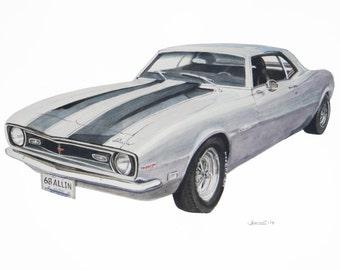 1967 Silver Camero