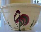 vintage Watt rooster mixing bowl 9, stone ware, oven ware