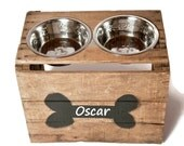 Elevated Dog Bowl / Pet Feeder / Dog Bowl Stand / Dog Rescue / Personalized Bowl Holder / Gift for Dog Lover - RESCUEPetProducts