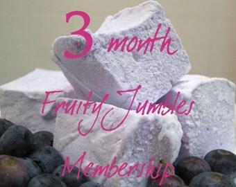 Fruity Jumbles Club - 3 month membership - 1 dozen Gourmet homemade marshmallows