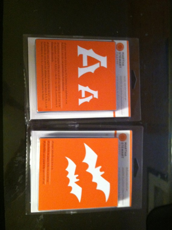 2 sets of martha stewart stencils spooky alphabet and for Spooky letter stencils