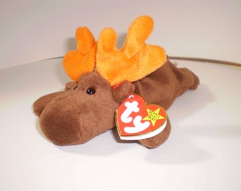 """1993 """" Chocolate The Moose"""" TY toy"""