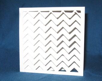 Hand Cut Chevron Pattern Card