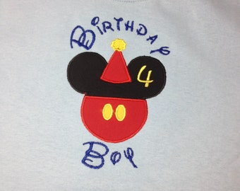 Disney Birthday Boy Shirt - Youth- Birthday Mickey shirt