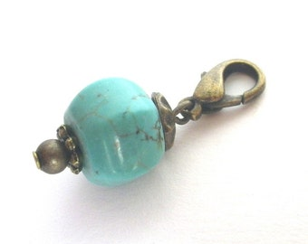 Drop - charm change pendant charms Howlith turquoise