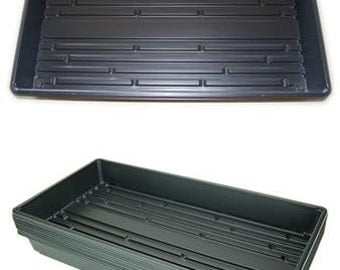 "21"" x 11"" Plant Greenhouse Growing Trays - Pack of 10 - No Drain Holes - Grow Wheatgrass, Microgreens, Seedlins & More"