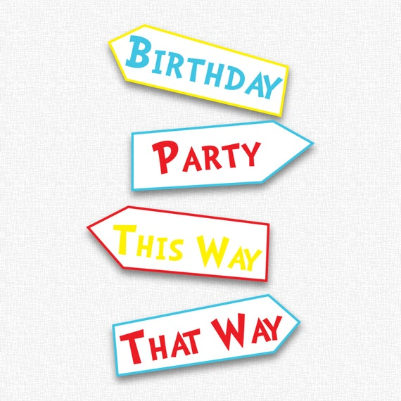 Adorable image for party signs printable