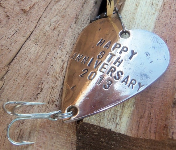 Brass Gifts For Wedding Anniversary: Eighth Anniversary Gift For 8th Wedding By CandTCustomLures