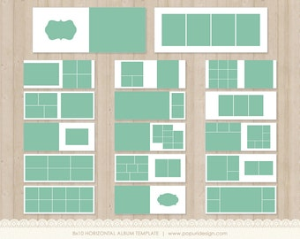 instant download 8x10 album templates for photographers photoshop layered template pt038. Black Bedroom Furniture Sets. Home Design Ideas