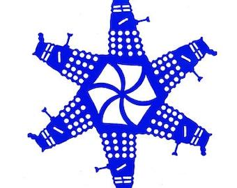 "4"" Dalek inspired snowflake Ornament"