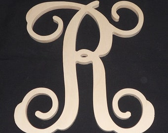 24 wooden vine letter unfinished wood letters room decor childrens room