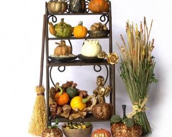 Charming Miniature Autumn Rack for Your Dollhouse