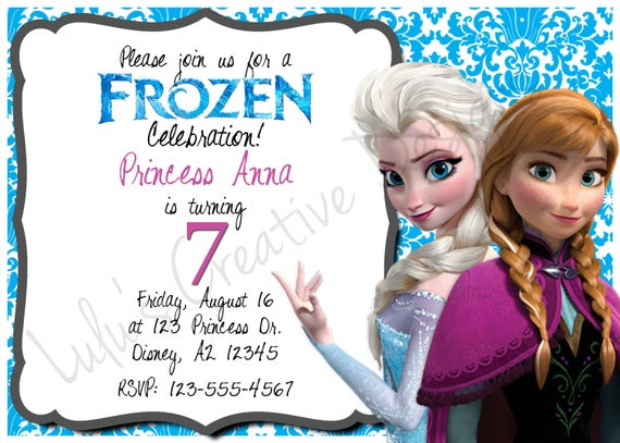 Disney's Frozen Digital Invitation