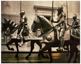 New York City Print-Knight Statue 8 x 10 Print-Renaissance-Interior Design-Wall Decor-Horse Riding Knight -Urban Art