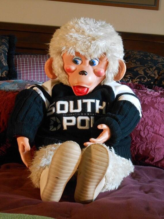 Old Toy Monkey - Vintage Stuffed Monkey - Stuffed Animal