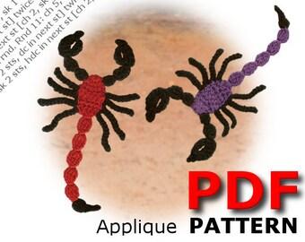 Crochet | Crochet pattern | Applique pattern | Crochet SCORPION