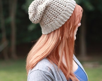 Lightweight slouchy crochet hat