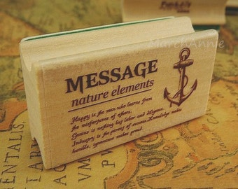 1 pc Vintage Stamp - Wooden Rubber Stamp - Diary Stamp - Postmark Stamp - Message stamp