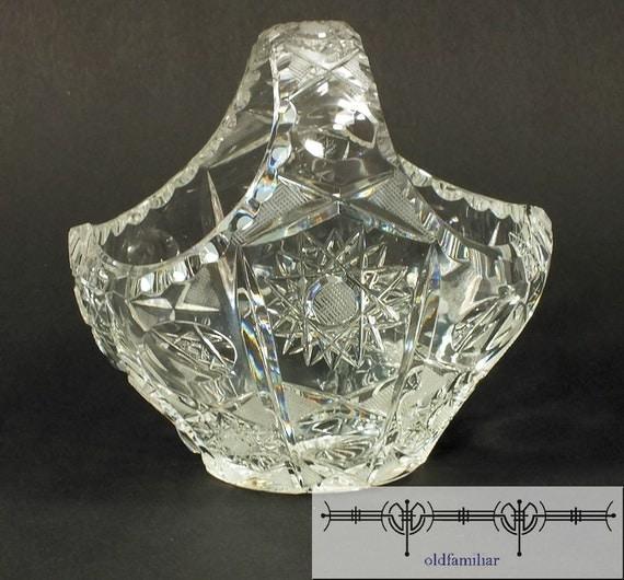Nice Antique Oval Glass Basket