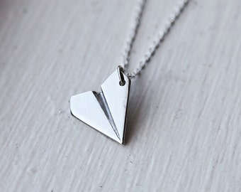 Paper Airplane Necklace- Inspired by Harry Styles from One Direction STOCCKING STUFFER for girls