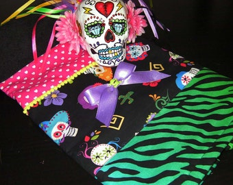 MANDRAGORA day of the dead hand towel