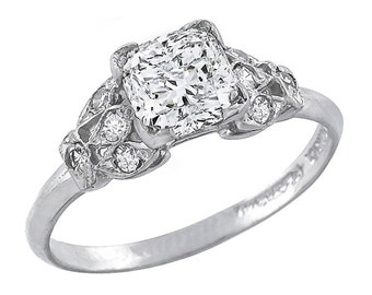 Antique Style 1.06ct Diamond Engagement Ring