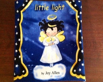 Little Light Christmas Holiday Fabric Book Tells the Christmas Story- New Cotton Cloth Washable Book and Ready to Ship