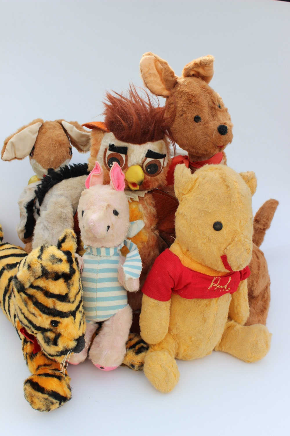 Winnie The Pooh Toys : Vintage winnie the pooh toy doll collection rabbit roo kanga