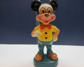 Vintage Plastic Mickey Mouse by Walt Disney Productions