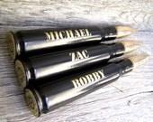 Groomsmen Gift. Engraved 3 Pack .50 Caliber Bottle Openers in Black. Choose Font. Groom Gift
