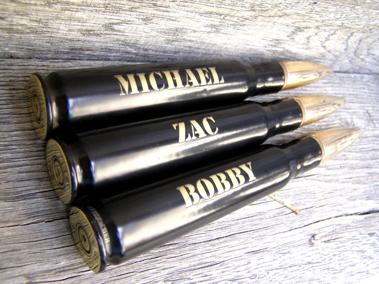 groomsmen gift engraved 3 pack 50 caliber bottle openers in. Black Bedroom Furniture Sets. Home Design Ideas