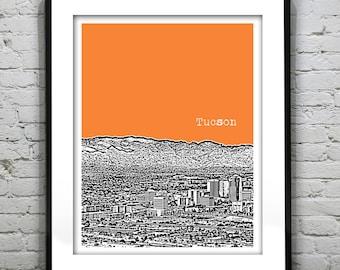 Tucson Arizona Poster Print Art Skyline