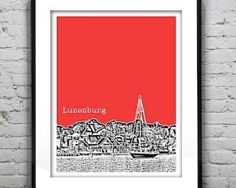 Lunenburg Nova Scotia Skyline Poster Canada Art Print