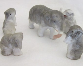 Vintage German Porcelain Elephants