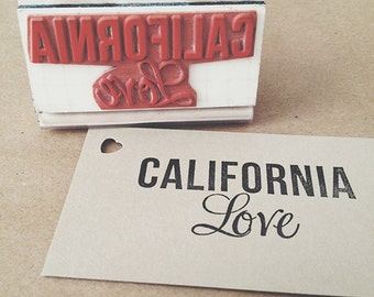 California Love : Hip-Hop Inspired Rubber Stamp