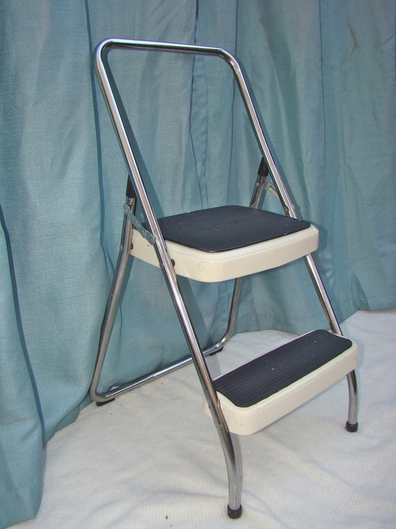 Vintage Cosco Metal And Rubber Utility Stool Step Stool