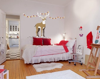 Nursery Deer Wall Decals - Kids Wall Decal - Custom Wall Art – Children Wall Art – Vinyl Decals - Awesome decals / 081