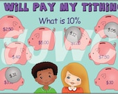 TITHING Children's File Folder Game - Downloadable PDF Only