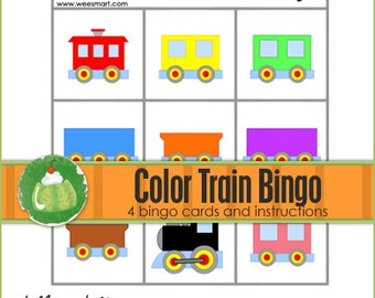 TRAIN Color Match BINGO - Downloadable PDF Only